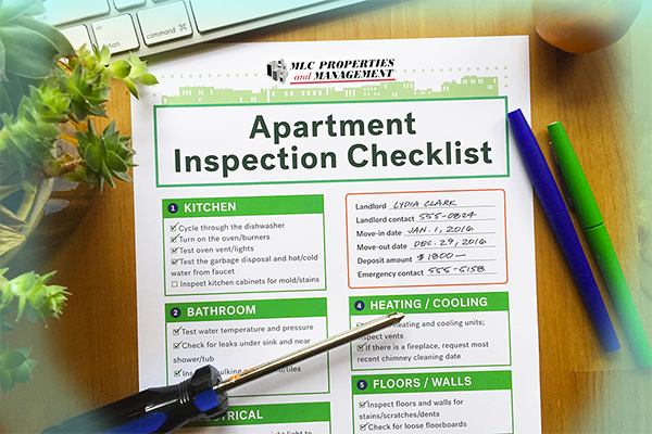Regular property inspections